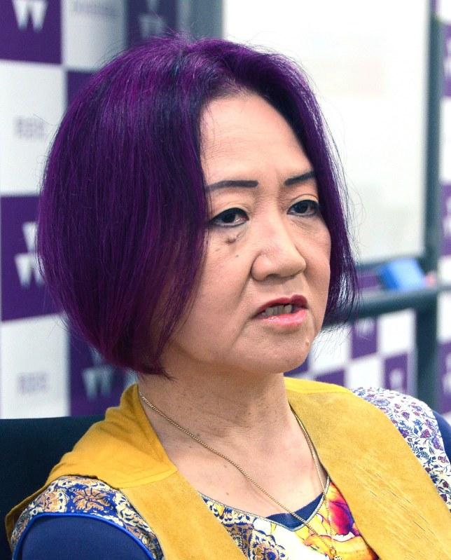 インタビューに答える浜矩子さん=2016年9月15日、山口敦雄撮影