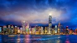 曇天の中国・香港