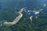 大柿ダム=福島県浪江町で2016年7月、本社ヘリから徳野仁子撮影