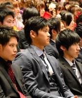 成人式に出席した大谷翔平投手=岩手・奥州で2015年1月11日
