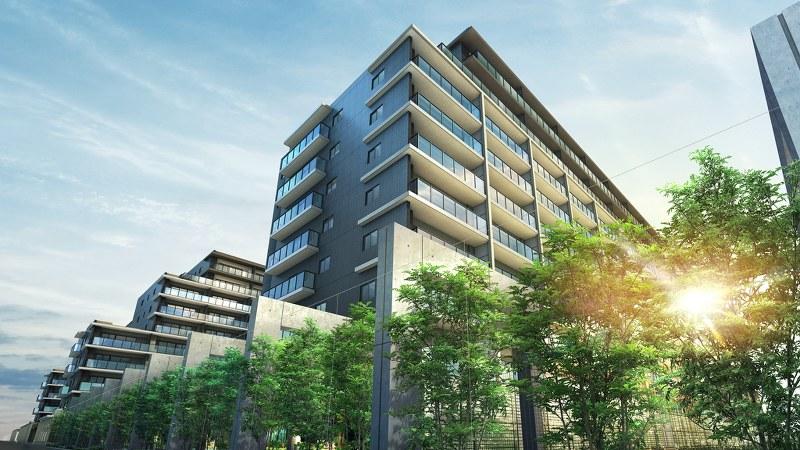 名古屋市・茶屋ケ坂エリアに誕生する「メガシティテラス」の外観完成予想図