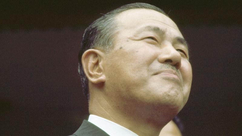 関連書籍が売れている田中角栄元首相=1972年