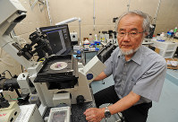 カナダのガードナー国際賞を15年に受賞した東京工業大の大隅良典栄誉教授。細胞内で不要な物質や有害物質を分解して健康を維持する働き「オートファジー」を発見した=横浜市緑区で2012年9月14日午後2時39分、矢頭智剛撮影