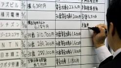 労使交渉の回答状況をまとめたボード=2016年3月16日、森田剛史撮影