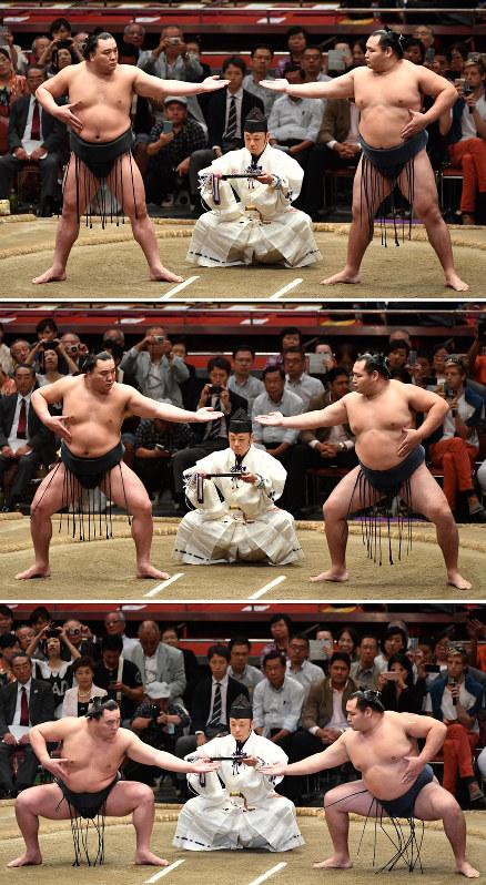 大相撲:伝統受け継ぐ「三段構え」 「気迫」の上段、「攻撃」の中段 ...