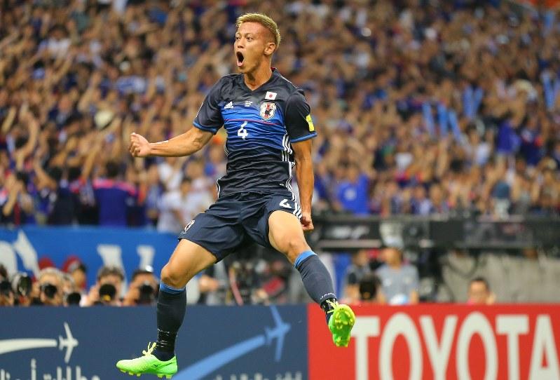 サッカー日本代表の本田圭佑選手。イタリアの「ACミラン」に所属している=2016年9月1日、長谷川直亮撮影
