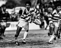 日本ラグビーのエース、平尾誠二(神戸製鋼)=1987年4月