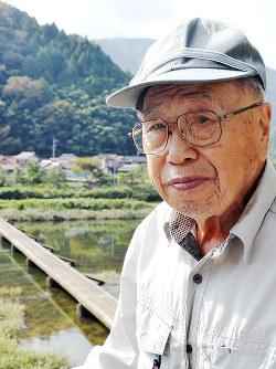 黒い雨集団訴訟で最年長原告の松本正行さん=広島県安芸太田町で、竹下理子撮影