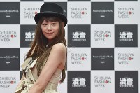 Actress Mariya Nishiuchi, who appeared during the finale of an event at Japan Fashion Week in Tokyo, is seen in Shibuya Ward, on Oct. 23, 2016. (Mainichi)