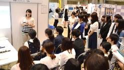 大学3年生向けに開かれたインターンシップの企業説明会=2015年7月11日、渡辺精一撮影