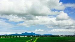 上越新幹線から見る新潟平野