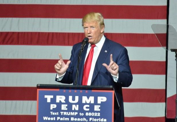米大統領選共和党候補のドナルド・トランプ氏=2016年10月13日、西田進一郎撮影