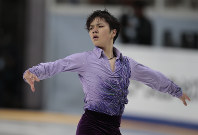 Shoma Uno, of Japan, skates his short program at the Rostelekom Cup ISU Grand Prix of figure skating event, in Moscow, Russia, on Friday, Nov. 4, 2016. (AP Photo/Ivan Sekretarev)