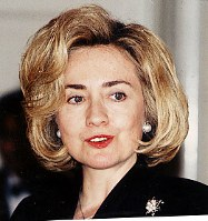 ヒラリー・クリントン氏=1996年4月17日撮影