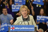 ヒラリー・クリントン氏=米サウスカロライナ州コロンビアで2016年2月27日、西田進一郎撮影