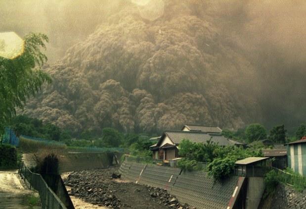 噴火 雲仙 普賢岳