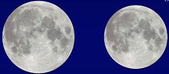 スーパームーン:大きな月、会え...