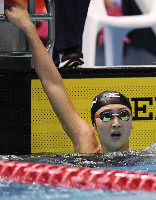 競泳:アジア選手権 池江、日本新 100自由形 - 毎日新聞