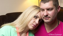 ジンターレ・デグティエンヌさんと夫のリナス・ラダヴィシウスさん