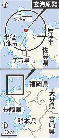 佐賀県の玄海原発