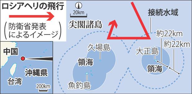 沖縄・尖閣諸島:領空付近で露海軍ヘリ飛行 空自が緊急発進 - 毎日新聞