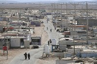 The Zaatari refugee camp in Jordan is seen in October 2016. Some 79,000 people live in the camp. (Mainichi)