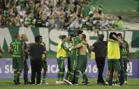 飛行機に乗っていたとみられるブラジルのクラブチーム「シャペコエンセ」=2016年11月23日、AP