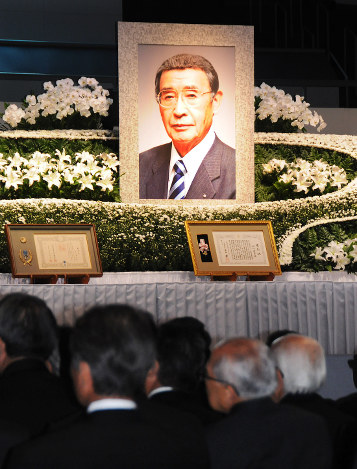 追悼式:セイノーHD田口元会長お...