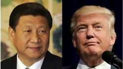 中国の習近平国家主席(左)とトランプ米次期大統領