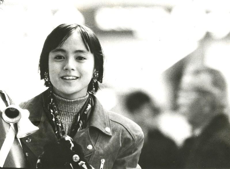 牧瀬里穂さんが出演したJR東海のCM「クリスマス・エクスプレス」=1989年、同社提供