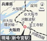 JR新今宮駅の位置
