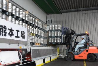 熊本地震:名水ビール出荷再開「...