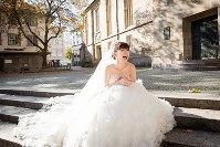 Japanese table tennis player Ai Fukuhara dressed in a wedding gown is seen in this photo taken in Germany. (Photo courtesy of STARFiSH PR)