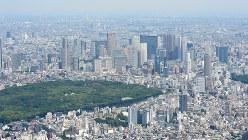 東京・新宿周辺の高層ビル郡とマンション