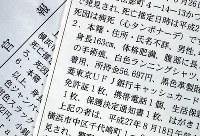 官報に掲載された「行旅死亡人」の情報。免許証の名義が未掲載の人も