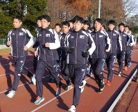 箱根駅伝で3位以内を目標に練習を重ねる駅伝メンバー