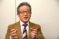 江上剛さん=2016年12月16日、田中学撮影