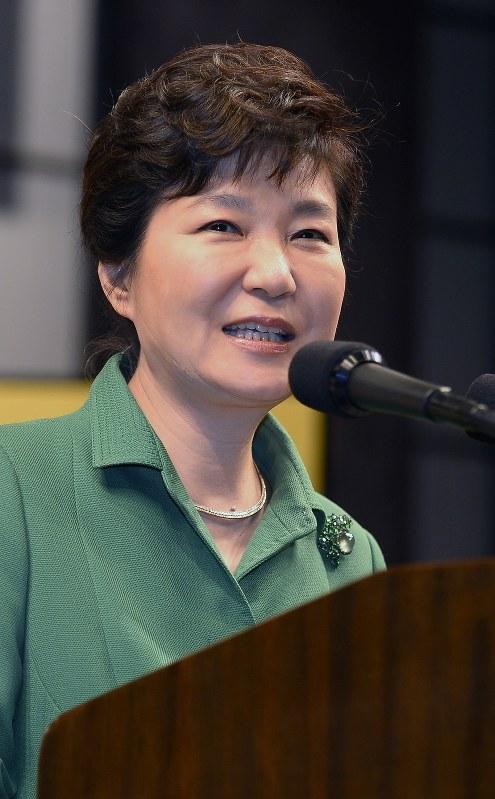 韓国の朴槿恵大統領=2015年6月22日、代表撮影