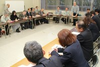 県防疫連絡会議で鳥インフルエンザへの対応を協議する関係者