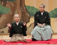 桂米朝さん=大阪市中央区のなんばグランド花月で2010年4月、三村政司撮影