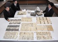 豊臣秀吉が脇坂安治に出した書状=兵庫県たつの市で2016年1月21日、川畑展之撮影
