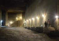 幻想的な景観からロケ地として活用される大谷資料館=宇都宮市大谷町で