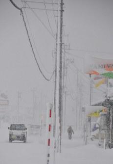 大雪に見舞われた横手市内