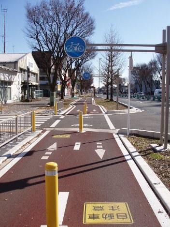 自転車道:幅3メートル、きょう...