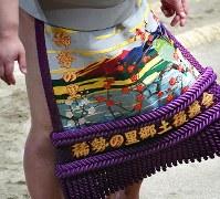 稀勢の里の化粧まわし=東京・両国国技館で2017年1月22日、竹内紀臣撮影