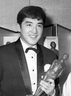 俳優の松方弘樹さん=1961年撮影