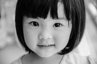 受賞作の中の1枚。和田芽衣さんの長女、結希ちゃん=和田さん提供