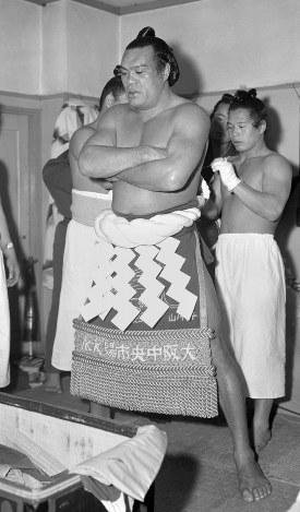 【41代】千代の山雅信=1957年1月27日撮影