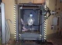 東京電力福島第1原発2号機格納容器内の調査に向け開けられた穴=2016年12月24日撮影(東京電力提供)