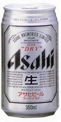 1987年発売当時の「アサヒスーパードライ」。デザインは現在とほとんど変わらない